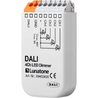 DALI 4Ch LED Dimmer 8A
