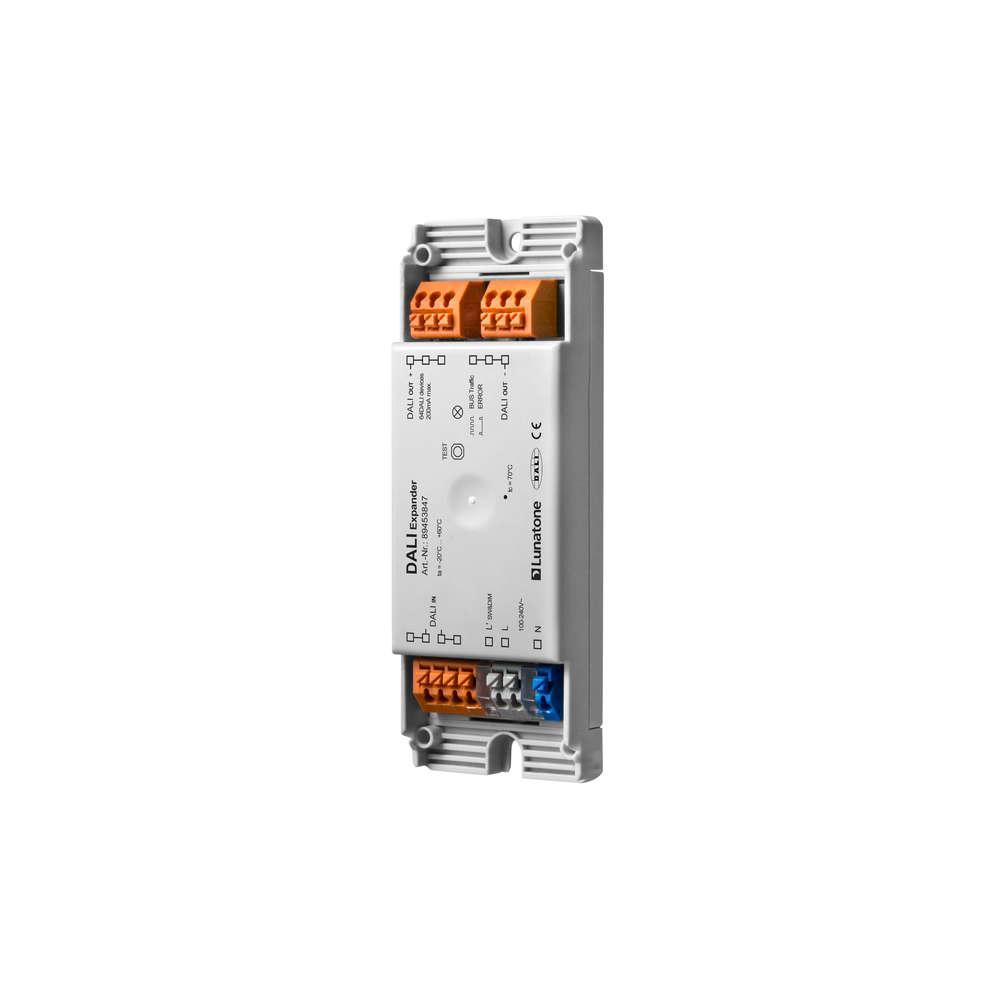 DALI input 1 address to DALI broadcast output, DALI PS 200mA out, Sw&Dim input