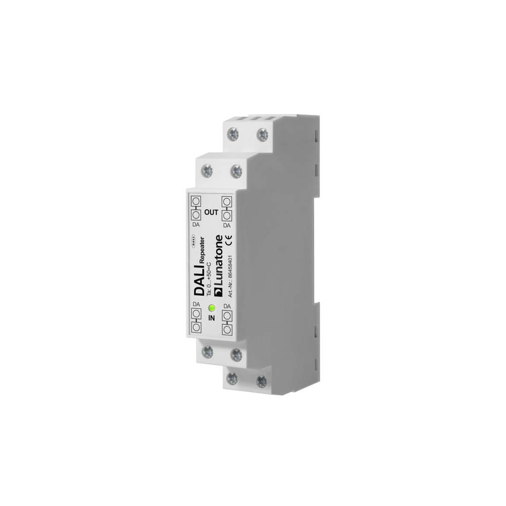 transceiver for DALI line extension, no DALI PS, DIN rail