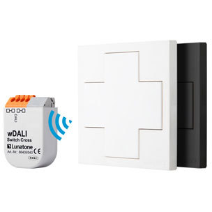 wDALI Switch Cross white +Transceiver 86459587-TR