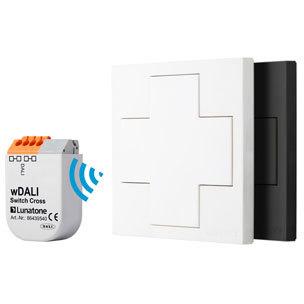 wDALI Switch Cross white +Transceiver 86459587-TR