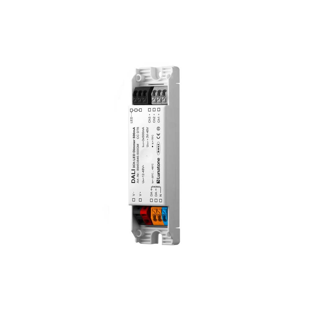 DALI  Led Dimmer 3 kanaals CC 500mA gem-