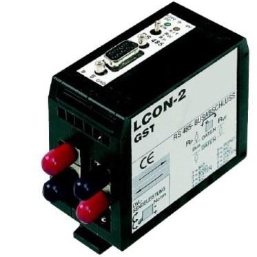 ARCNET/RS-485 - LWL-Konverter LCON-2 / optisch 2 kanaals