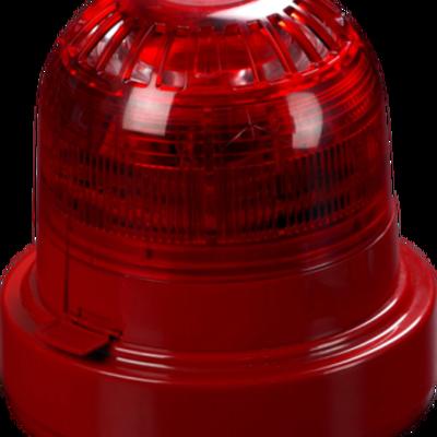 XPander Sirene-Flitscombinatie rood met sokkel, CE359-CPD-00