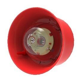 Geadresseerde wandmontage Sirene met Flitslicht Hochiki rood