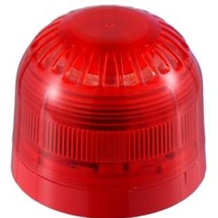 """LED Flitslicht """"Sonos"""", Rode Flitser, rode platte sokkel IP2"""