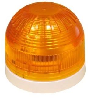 """LED Flitslicht """"Sonos"""", Oranje Flitser, witte platte sokkel"""