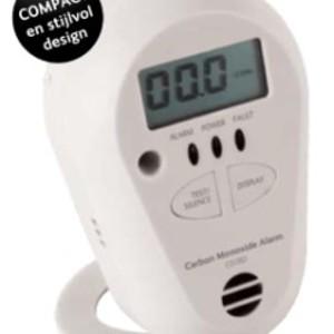 Batterij gevoede Kool Monoxide melder met Display en 7 JAAR