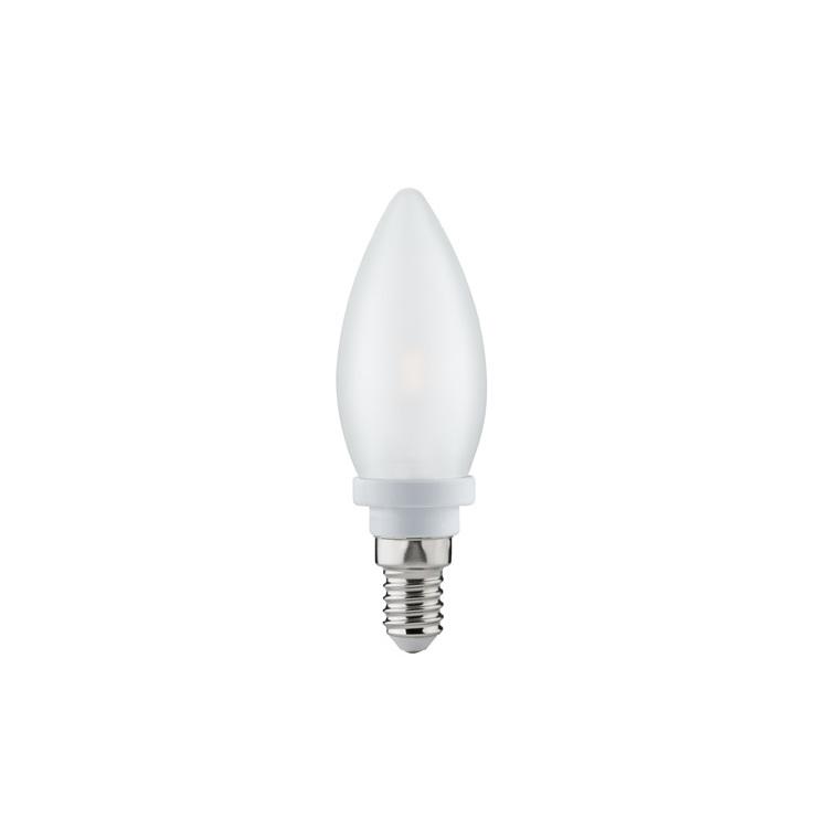 Paulmann LED kaars 2,5W E14 230V satijn 2700K