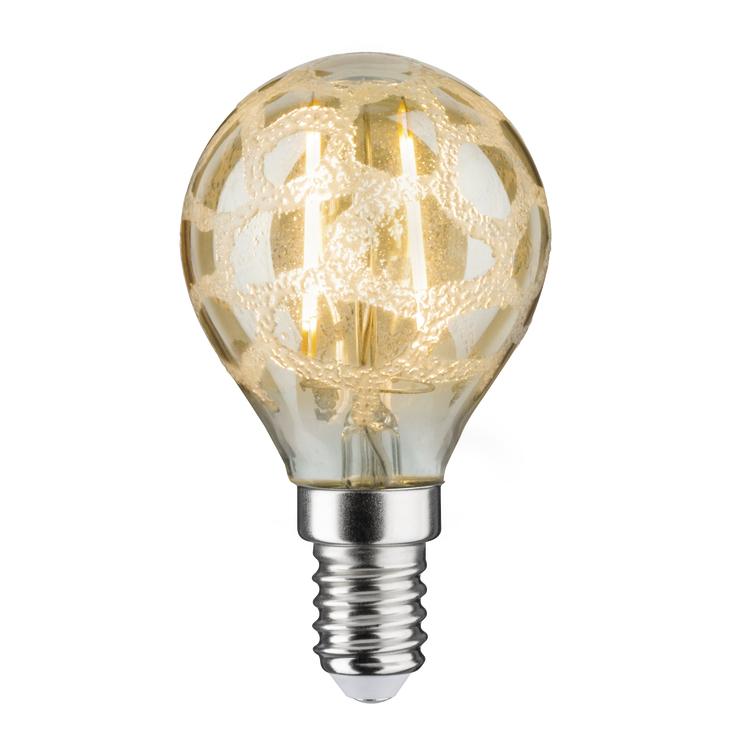 Paulmann LED kogel 2,5W E14 230V craque goud 2500K
