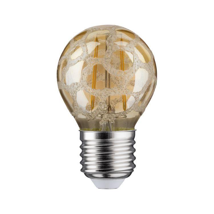 Paulmann LED kogel 2,5W E27 230V craque goud 2500K