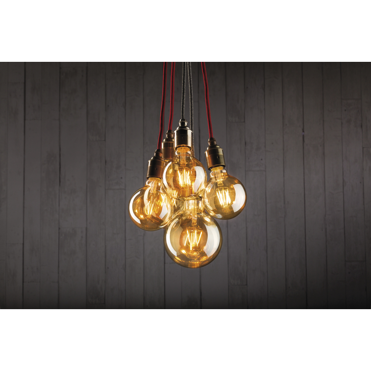 Paulmann LED Globe 95 7,5W E27 230V goud 2500K
