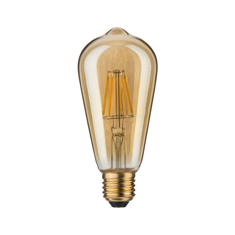 Paulmann LED Rustika (ST64) 7,5W E27 goud 2500K