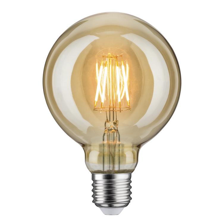 Paulmann LED vintage Globe 95 6,5W E27 goud 1700K
