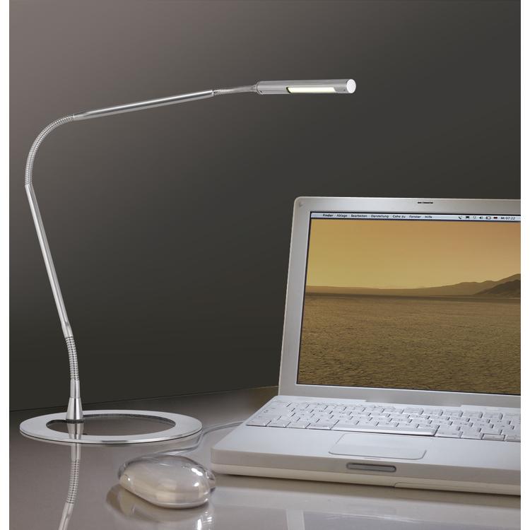 Paulmann Tafellamp Plaza LED 3W geborsteld staal