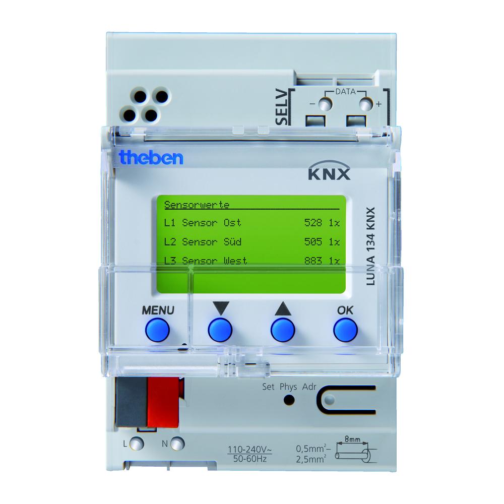 KNX 10-Kanaals-Helderheidssensor