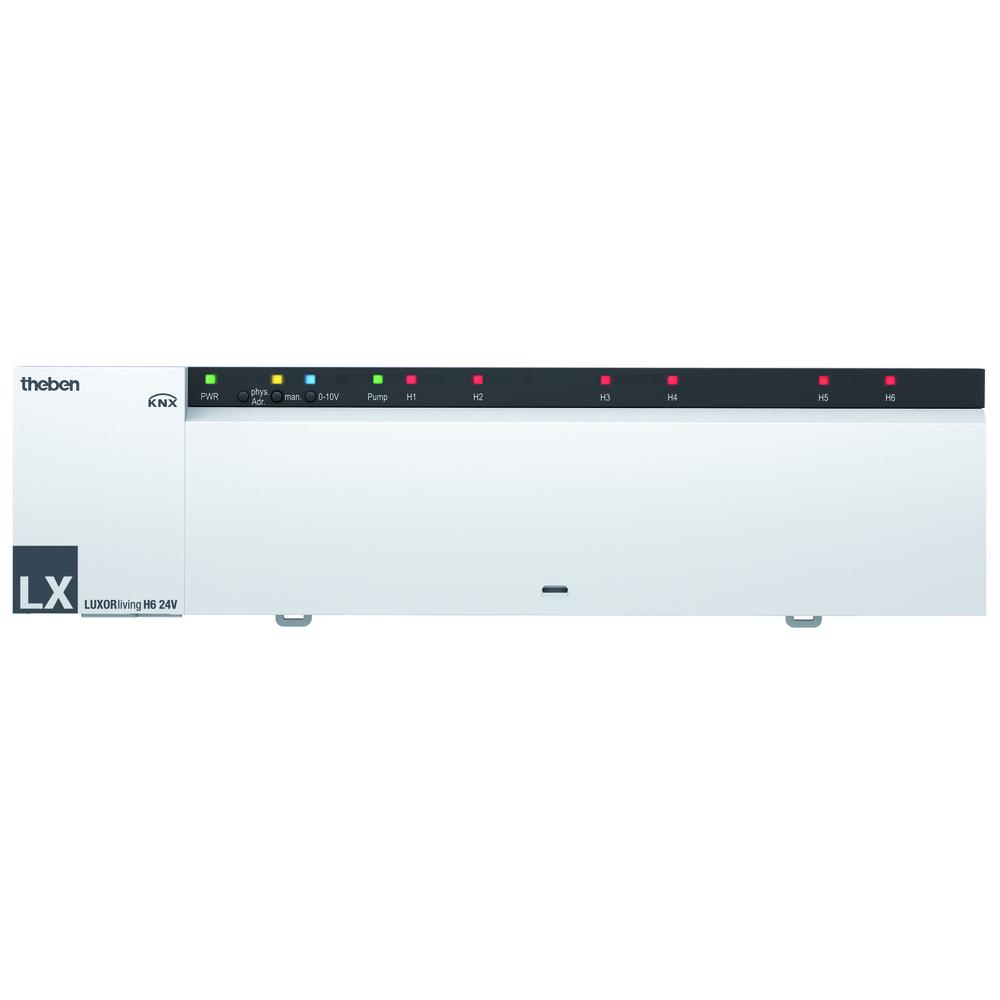 LUXORliving 6-kanaals verwarmingsactor-regelaar