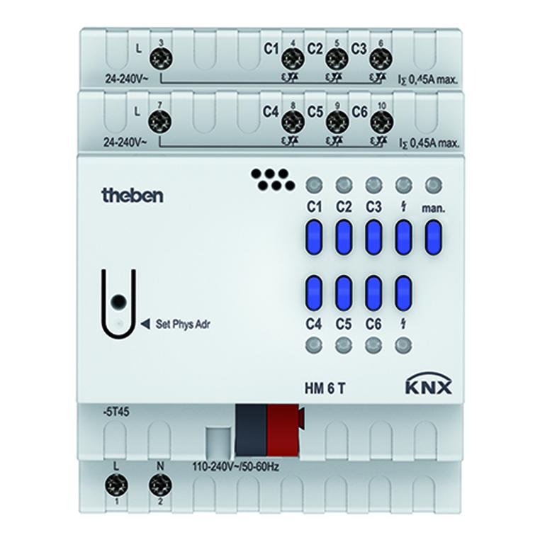 KNX verwarmingsactor, 6-kanaals