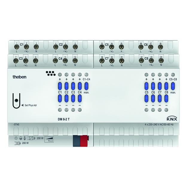 Universele dimactor, 4 kanaals, 200 Watt, FIX1, KNX