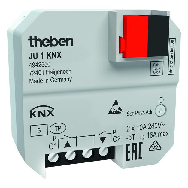 KNX inbouw jaloezieactor, 1 kanaal