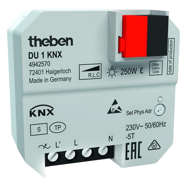KNX inbouw dimactor, 1 kanaal