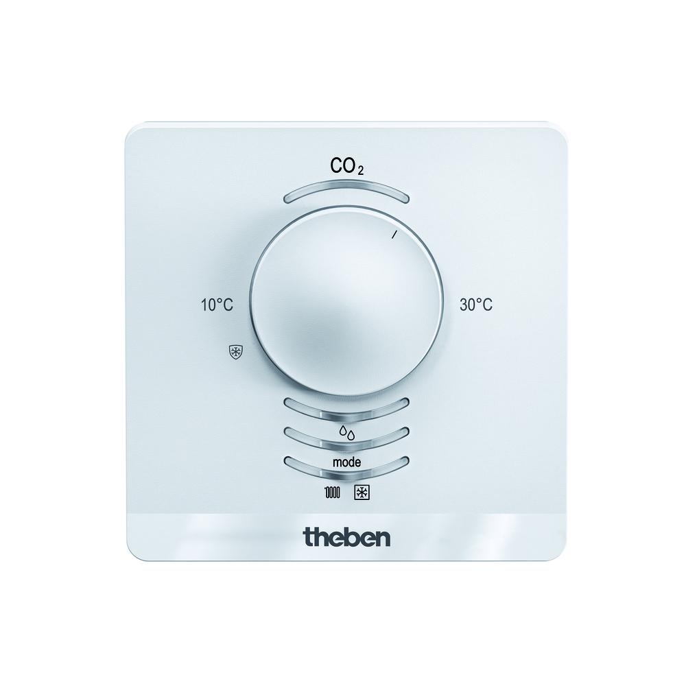 KNX CO2 sensor KNX voor ventilatiesturing met geïntegreerde temperatuu