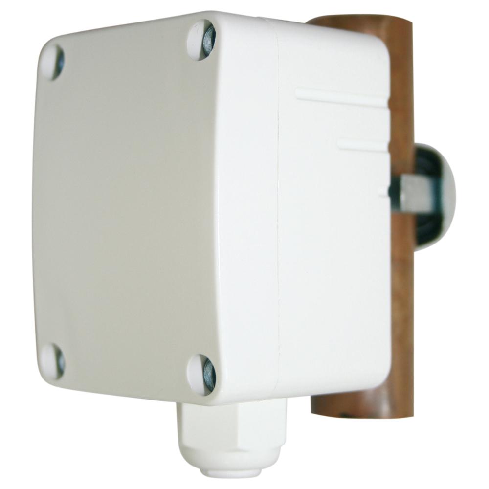 Aanlegsensor voor meting temparatuur op buizen gebogen oppervlakken