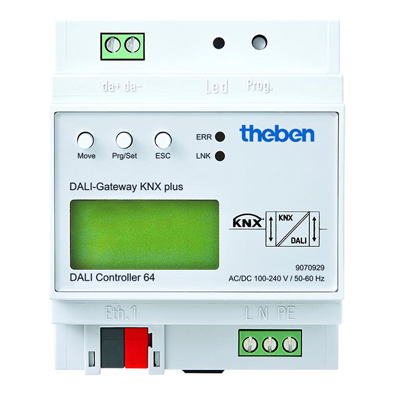 DALI-Gateway KNX voor max. 64 DALI deelnemers
