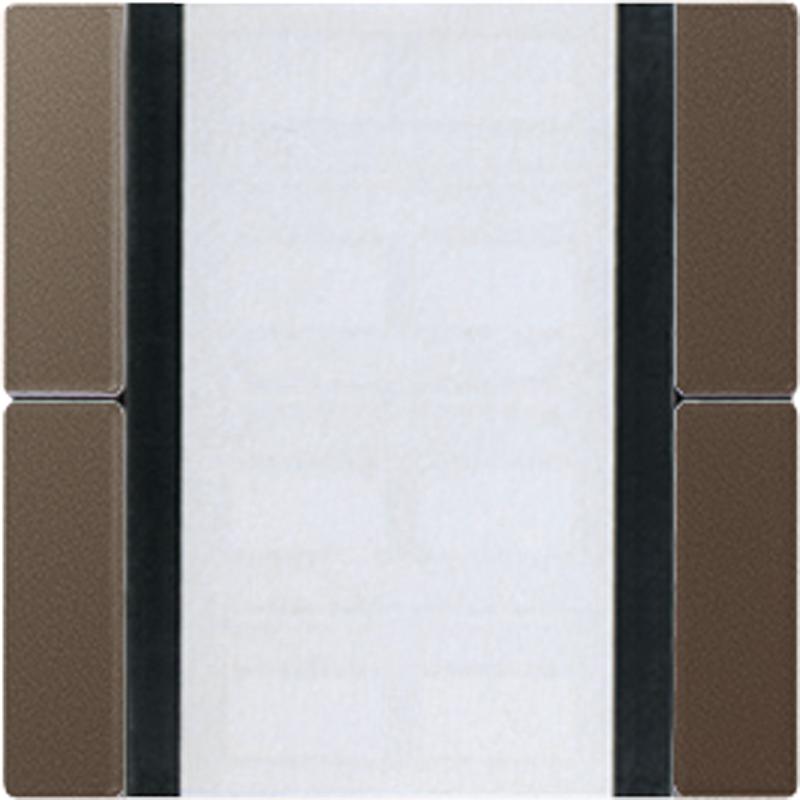 KNX/FUNK tastafd. 2-v. A500 mokka
