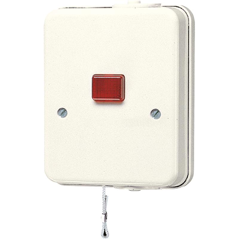 2-polig met controlelamp geschikt voor zowel in- als opbouw met trekko