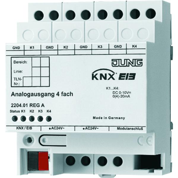 KNX analoge uitgang 4-v.