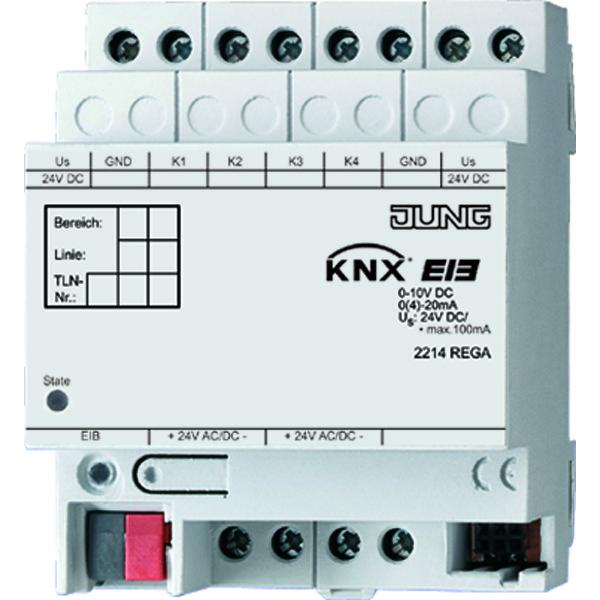 KNX analoge ingang 4-v.