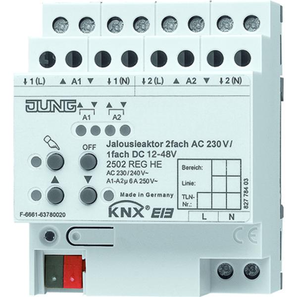 KNX Jalouzieactor 2-voudig