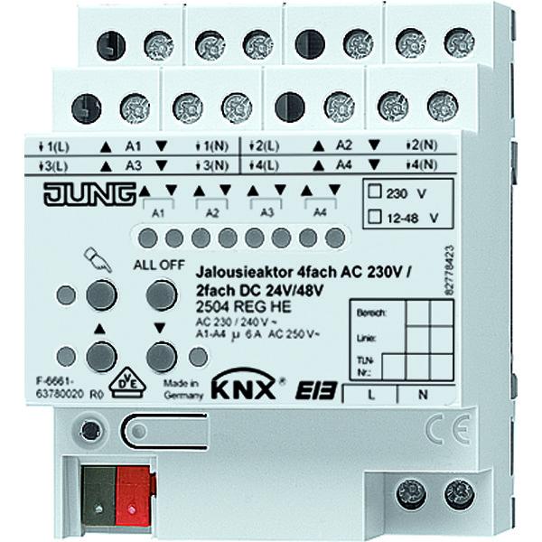 KNX jaloezieactor 4x230VAC/2x24VDC