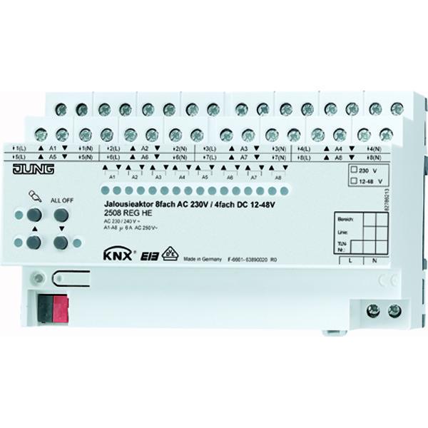 KNX jaloezieactor 8x230VAC/4x24VDC