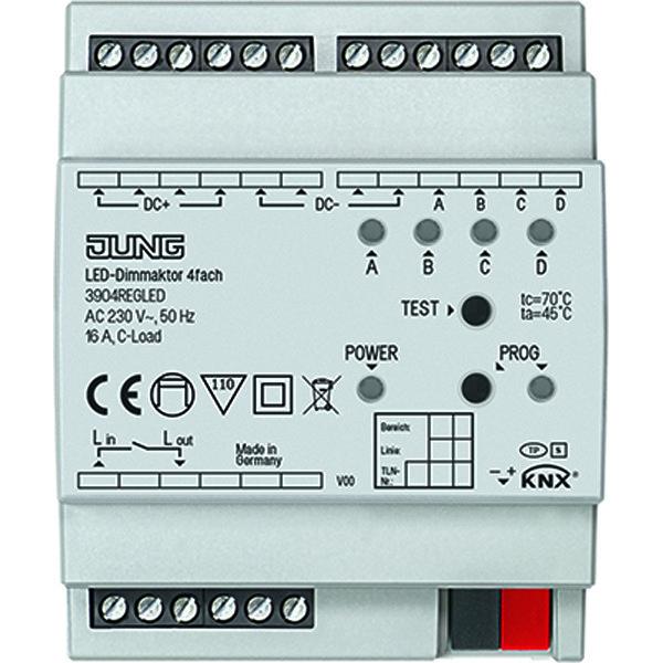 KNX LED dimactor 4v 12-24VDC DIN-rail