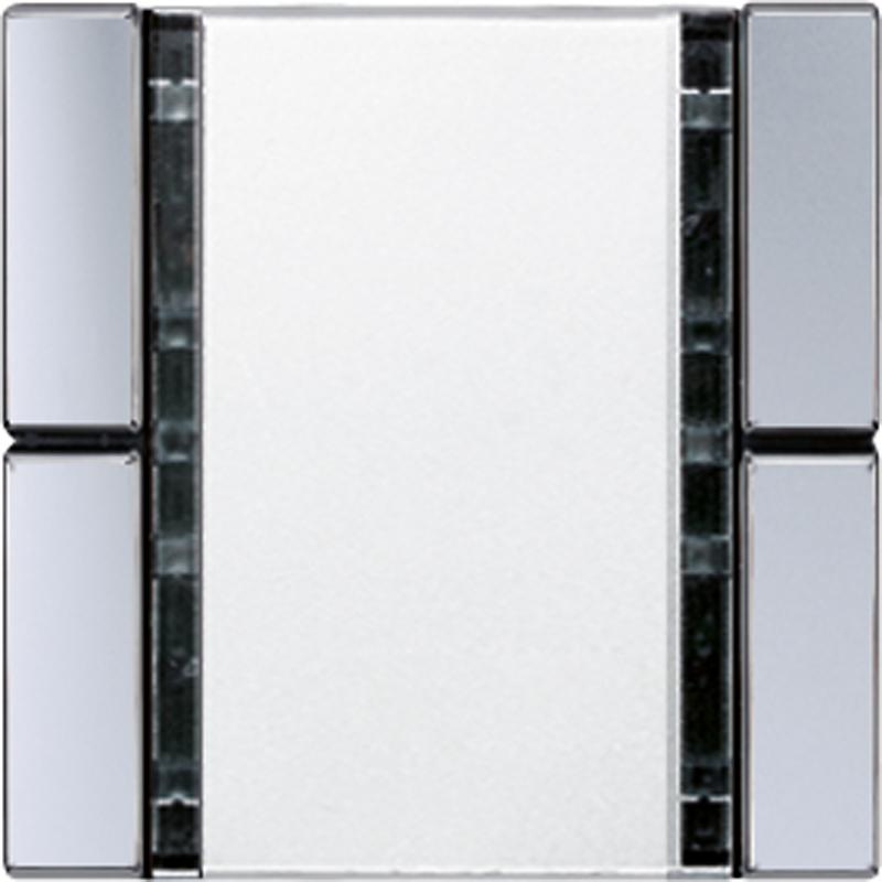 KNX/FUNK tastafd. A/AS 2-v. aluminium