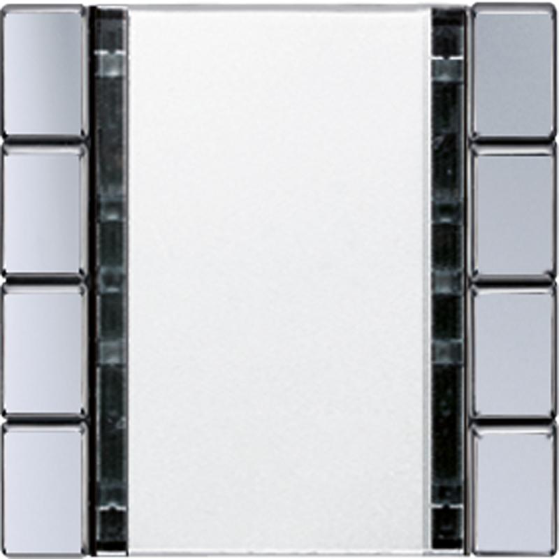 KNX/FUNK tastafd. A/AS 4-v. aluminium