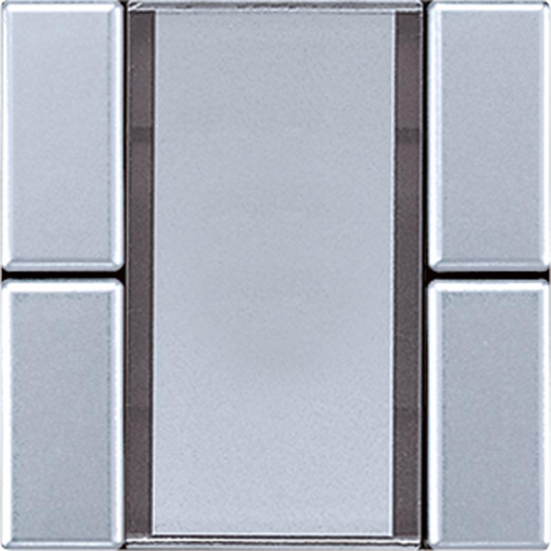 KNX/FUNK tastafd. LS 2-v. aluminium
