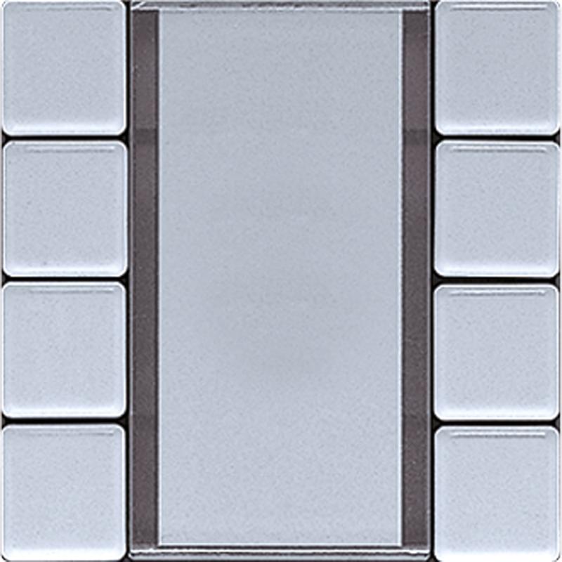KNX/FUNK tastafd. LS 4-v. aluminium