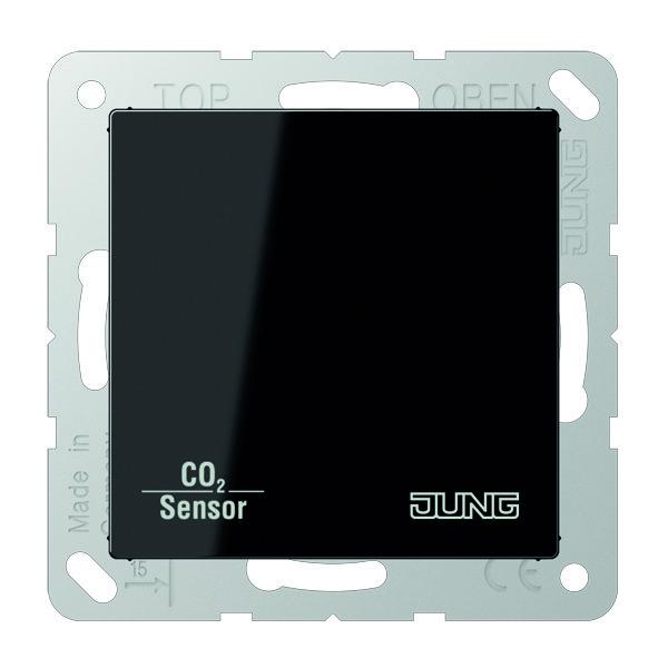 KNX CO2 Sensor A/AS slagv. Zwart