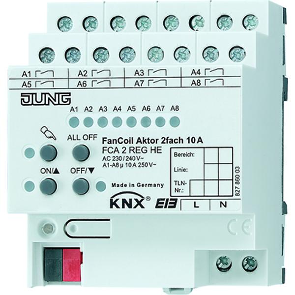 KNX fancoilactor 2-v