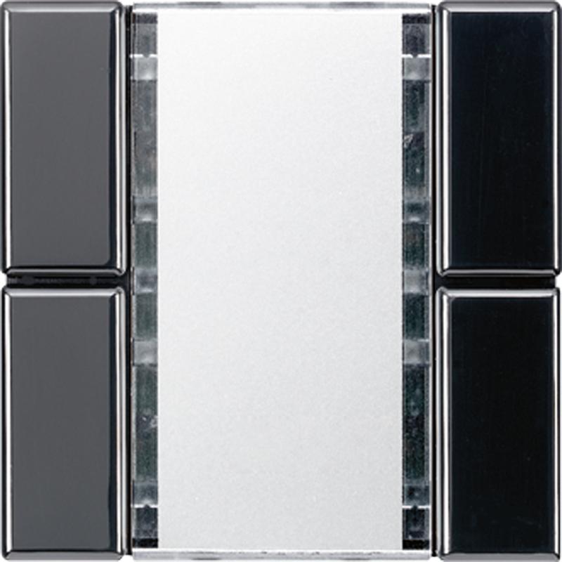 KNX/FUNK tastafd. LS 2-v. zwart