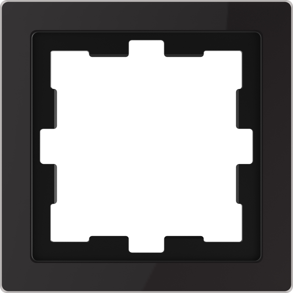 AFDEKRAAM 1V D-LIFE GLAS ZWART