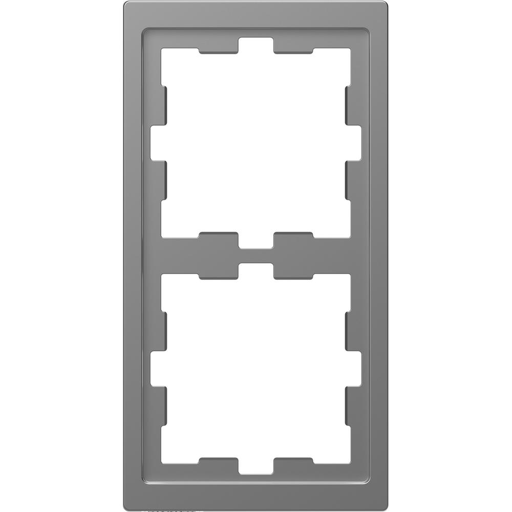 AFDEKRAAM 2V D-LIFE KUNSTSTOF RVS-LOOK