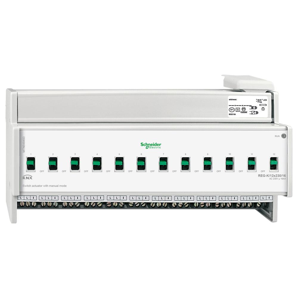 Schneider Electric KNX schakelactor 12 uitgangen 16A - MTN648493