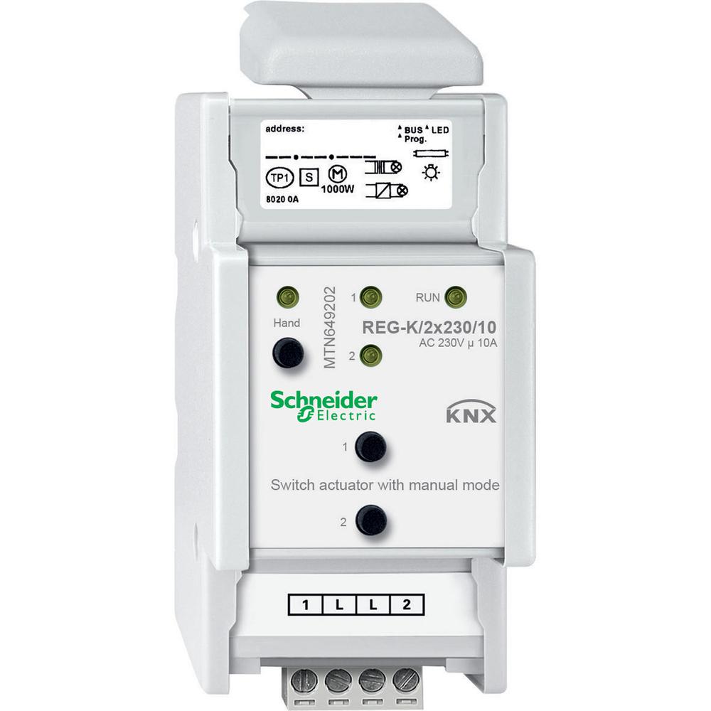 Schneider Electric Merten KNX schakelactor 2 uitgangen 10A - MTN6492