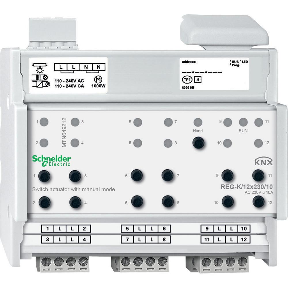 Schneider Electric KNX schakelactor 12 uitgangen 10A - MTN649212