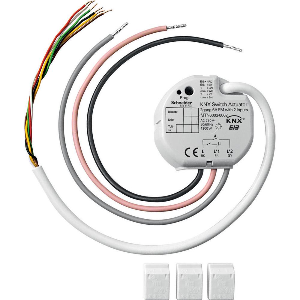 Schneider Electric KNX schakelactor 2x6a inbouw 2 ing. - MTN6003-0002