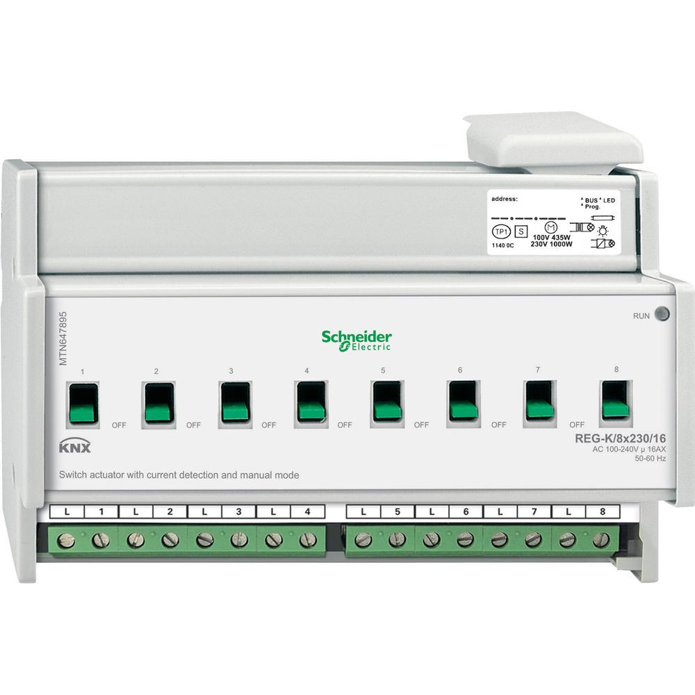 SCHNEIDER ELECTRIC KNX SCHAK. ACTOR 8 UITG. 16A STROOMDET. - MTN647895